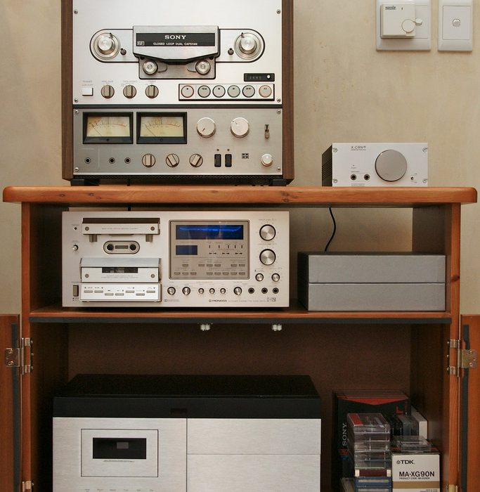 Sony TC-765 Reel to Reel / Musical Fidelity X-CAN v8 / Pioneer CT-F1250 Cassette Deck / Nakamichi 700-ZXL Cassette Deck