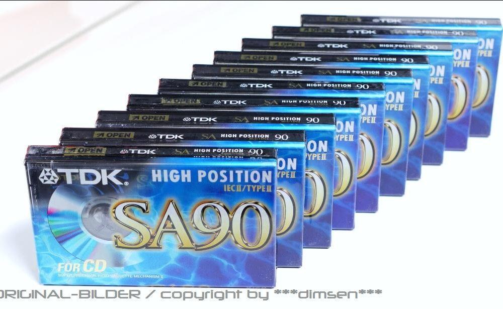 TDK SA90 Blau 空白磁带