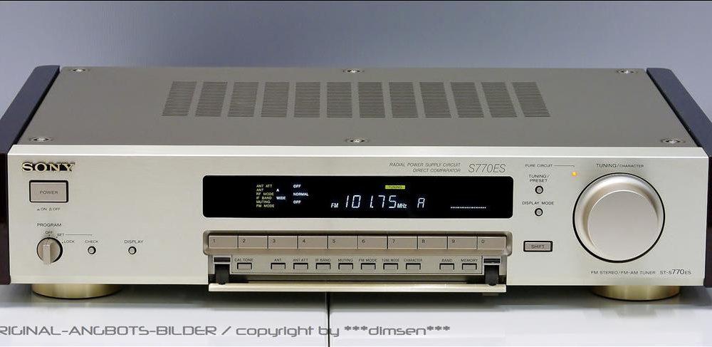 金色的索尼 SONY ST-S770ES 数字调谐收音头