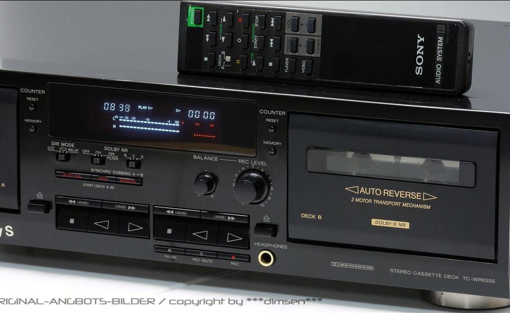 索尼 SONY TC-WR635S 双卡座