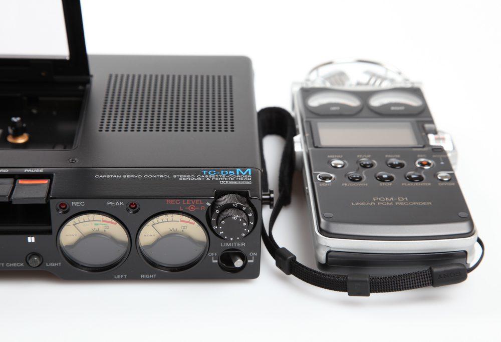 Sony TC-D5M (1978) & PCM-D1 (2005)