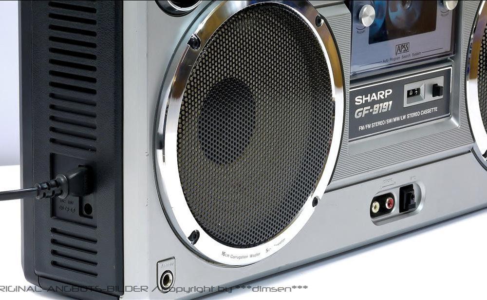 夏普 SHARP GF-9191 单卡四喇叭收录机