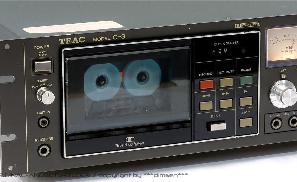 TEAC C-3 三磁头双表古典卡座
