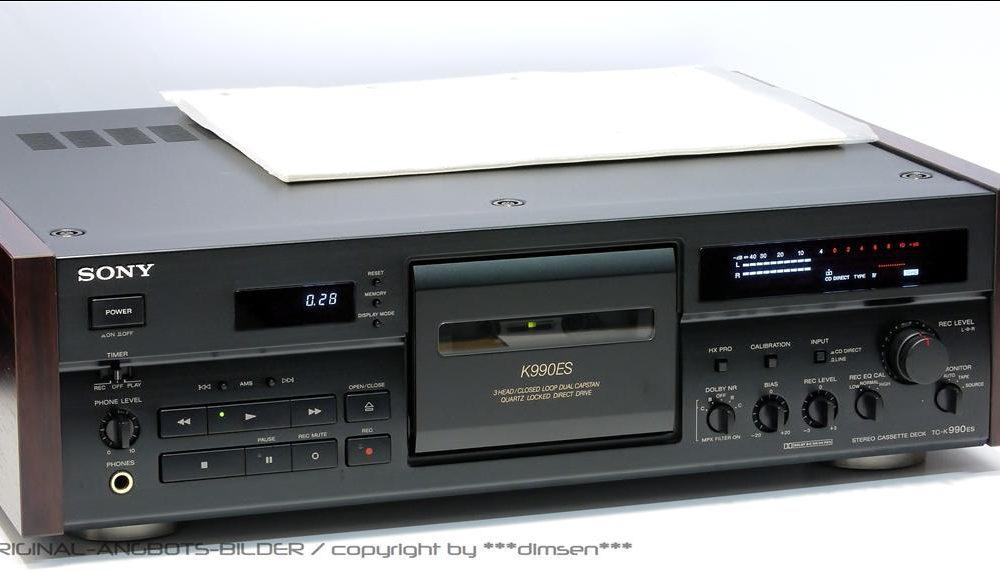 索尼 SONY K990ES 3磁头卡座