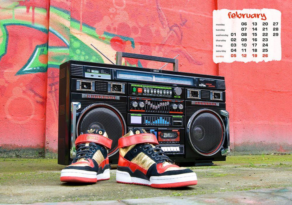 boombox & sneaker calendar 2012 - february