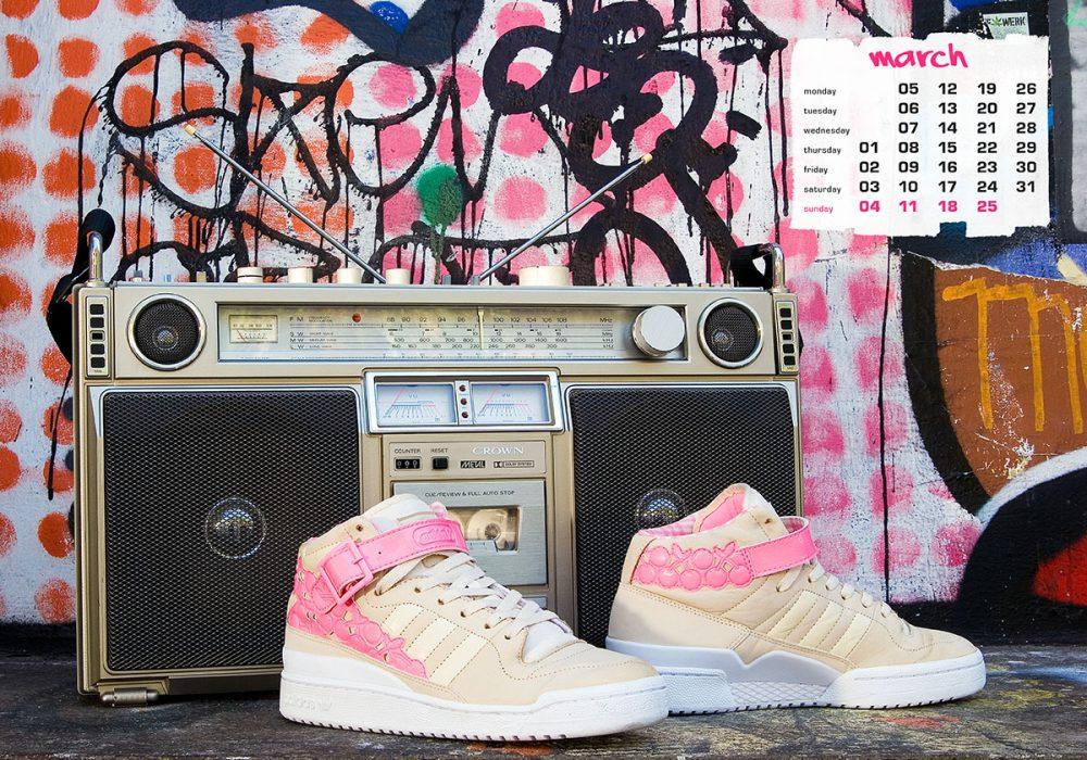 boombox & sneaker calendar 2012 - march