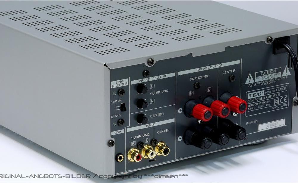 TEAC A-L700P 3声道(中置/环绕)功率放大器
