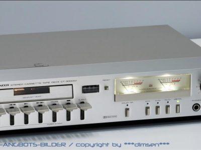 先锋 PIONEER CT-3000M 超薄型双表头卡座