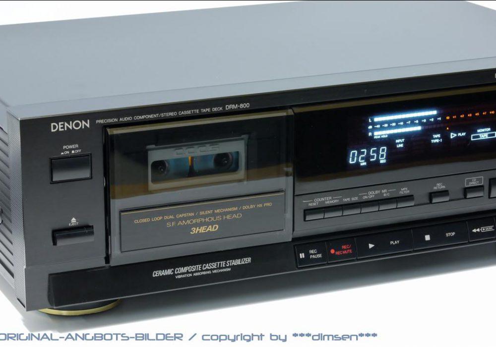 天龙 DENON DRM-800 三磁头卡座
