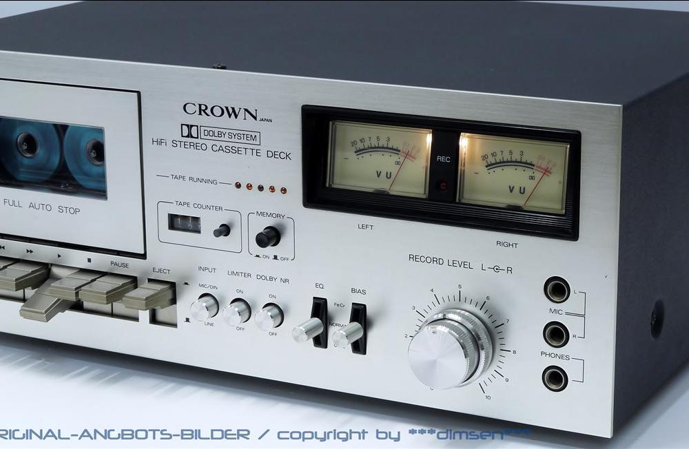 皇冠 CROWN CTD-2200 双表头古典卡座