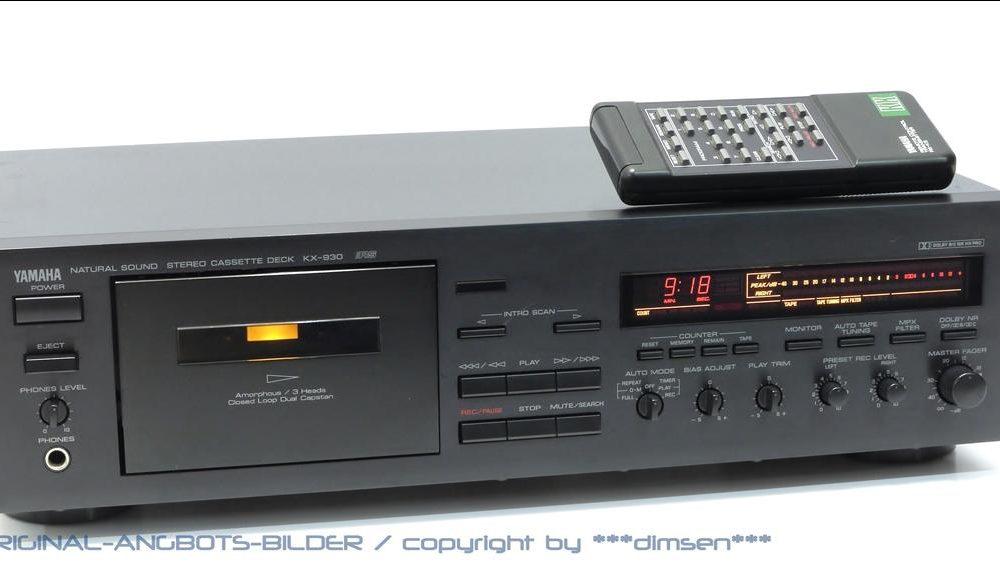 黑色雅马哈 YAMAHA KX-930 三磁头卡座