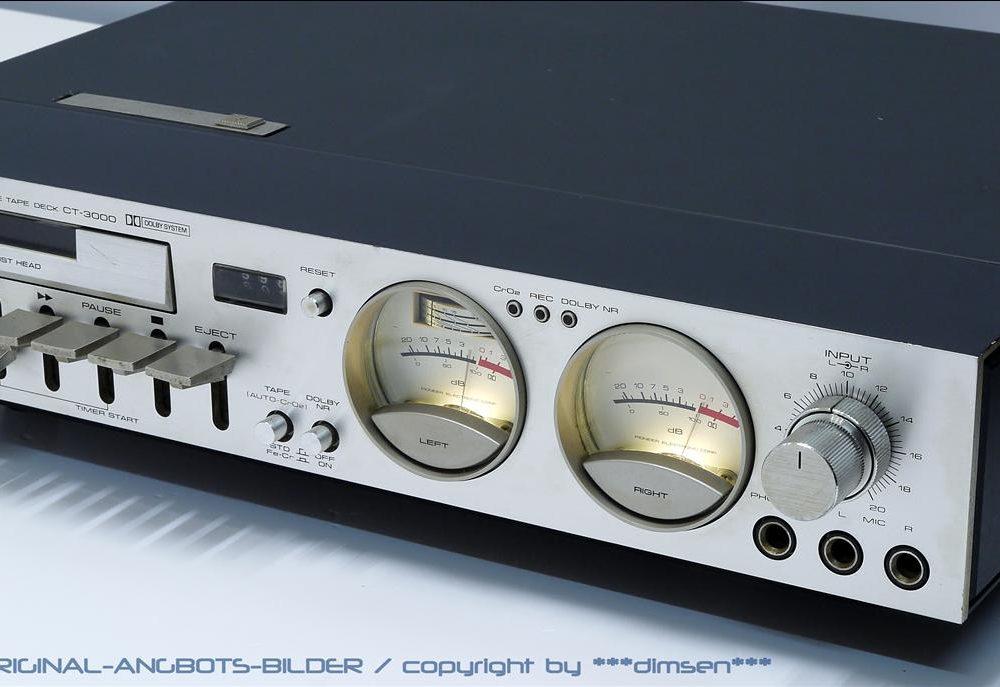 先锋 PIONEER CT-3000 超薄型双表头卡座