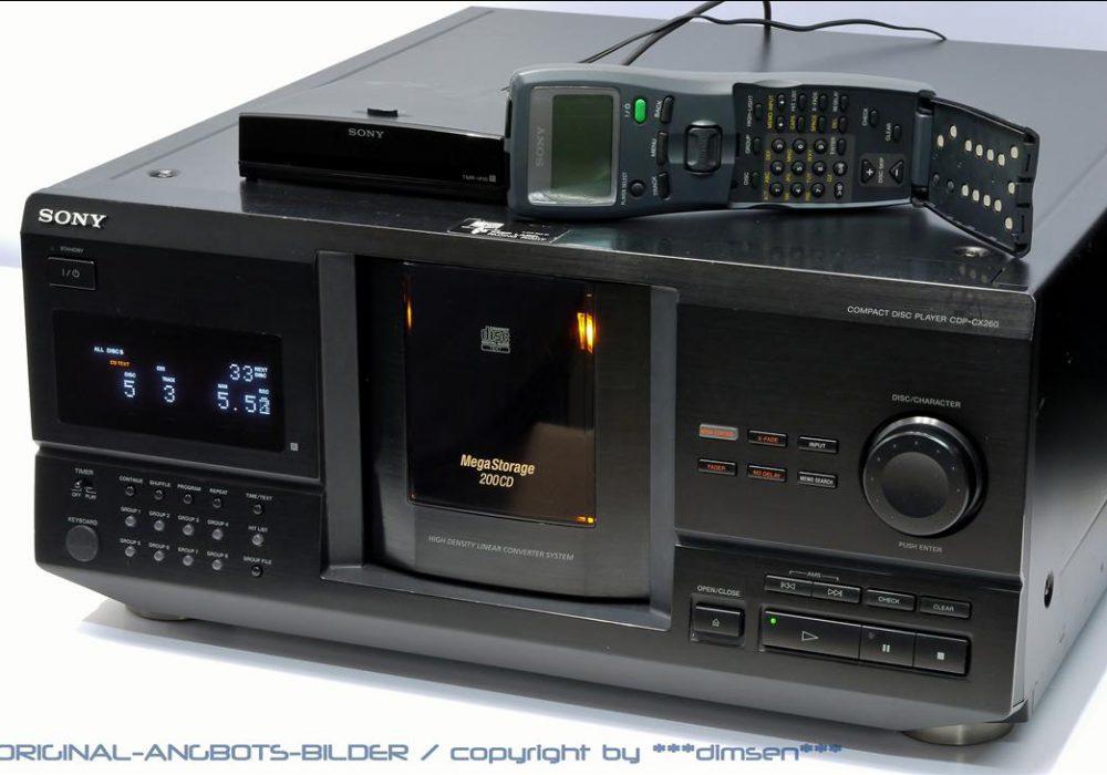 索尼 SONY CDP-260CX 200碟 CD播放机