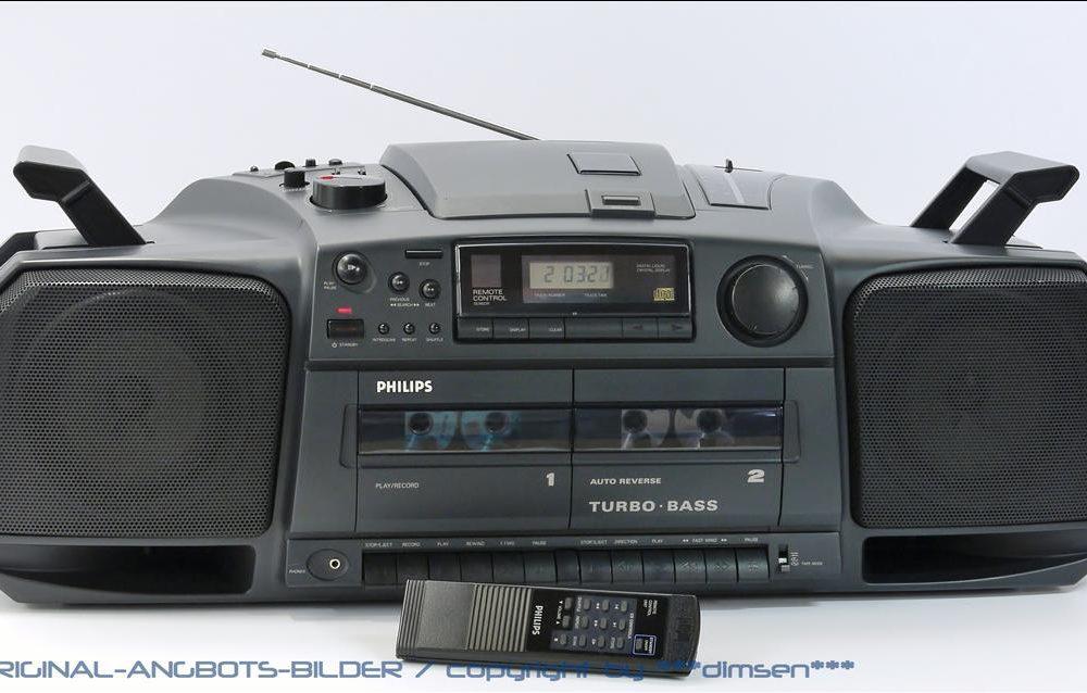 飞利浦 PHILIPS AZ-GHETTO 磁带收音CD 面包机