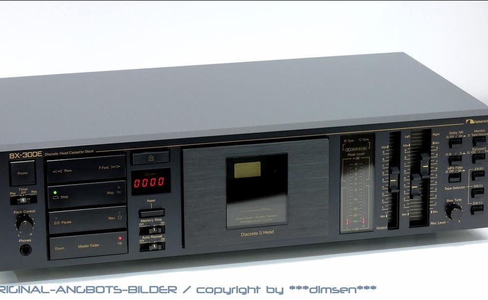 中道 NAKAMICHI BX-300E 经典直驱三磁头卡座