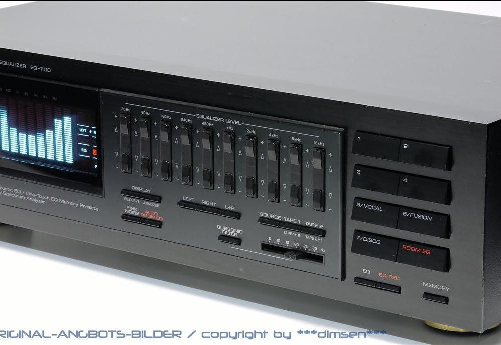 雅马哈 YAMAHA EQ1100 频谱图示均衡器