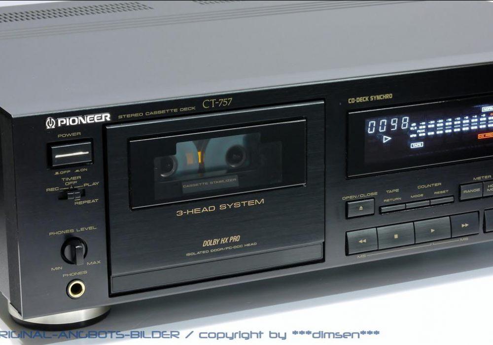 先锋 PIONEER CT-757 三磁头卡座