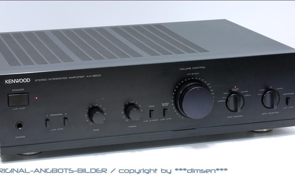 建伍 KENWOOD KA-660D 合并式功率放大器