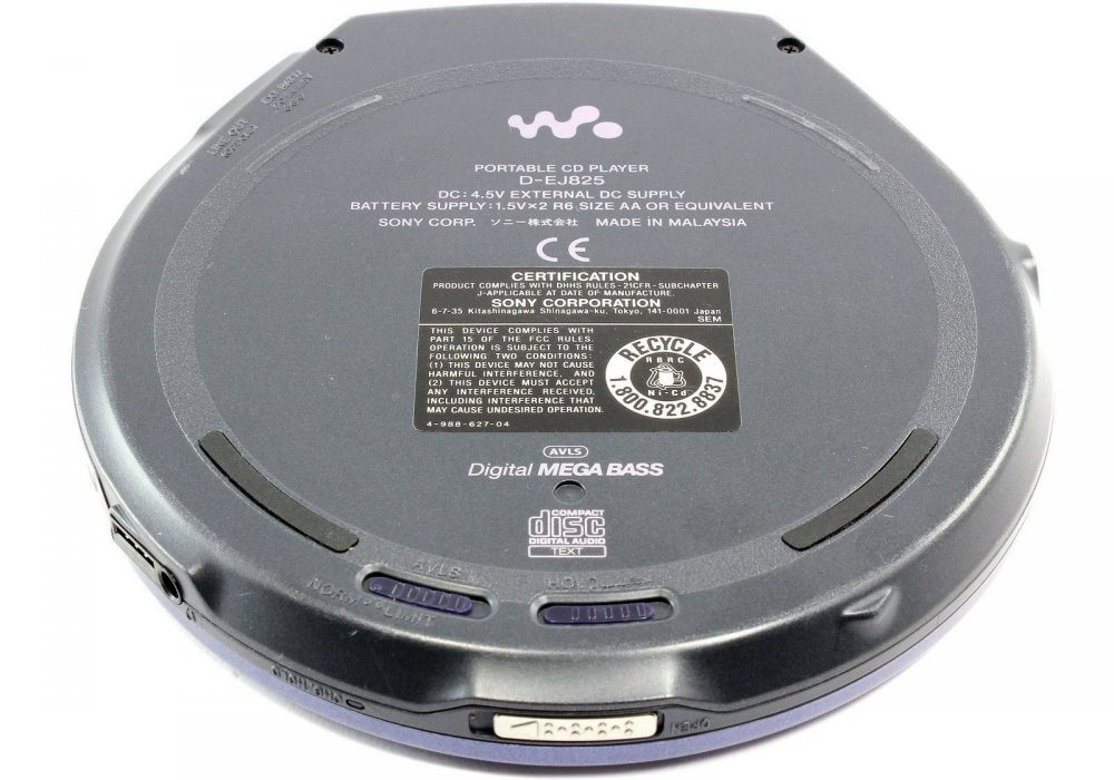 SONY D-EJ825 CD 随身听 G-Protection 便携 CD Player MEGA Bass