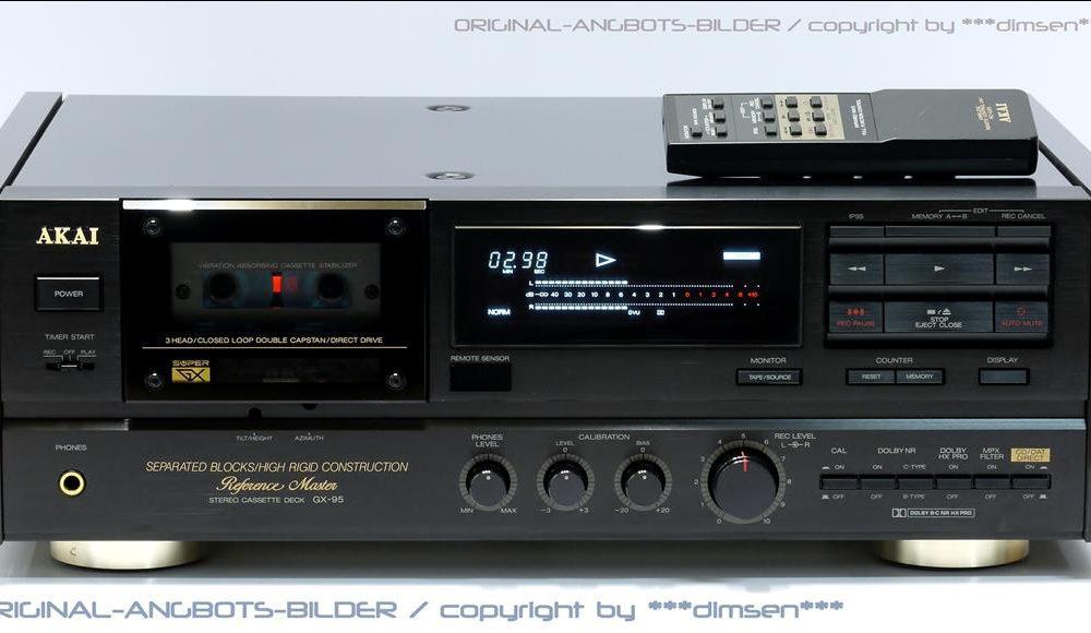 雅佳 AKAI GX-95 经典三磁头卡座