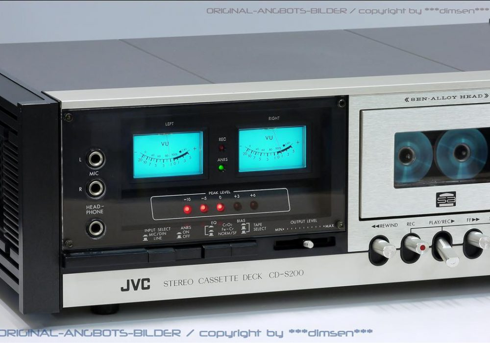 JVC CD-S200 蓝光双表头高级古典卡座
