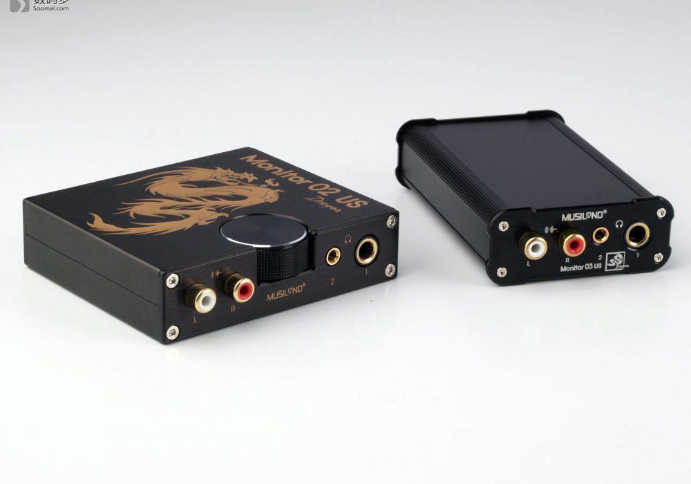 Musiland 乐之邦 Monitor 03 US Dragon 龙版 USB声卡-与02 US Dragon 龙版USB声卡大小对比