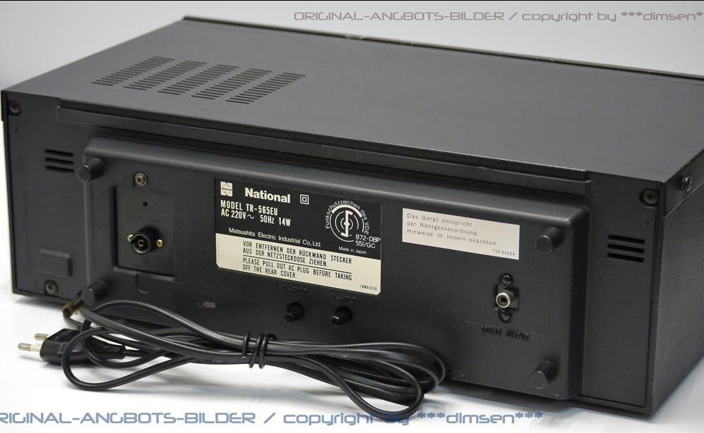 松下NATIONAL TR-565EU 小型电视接收机