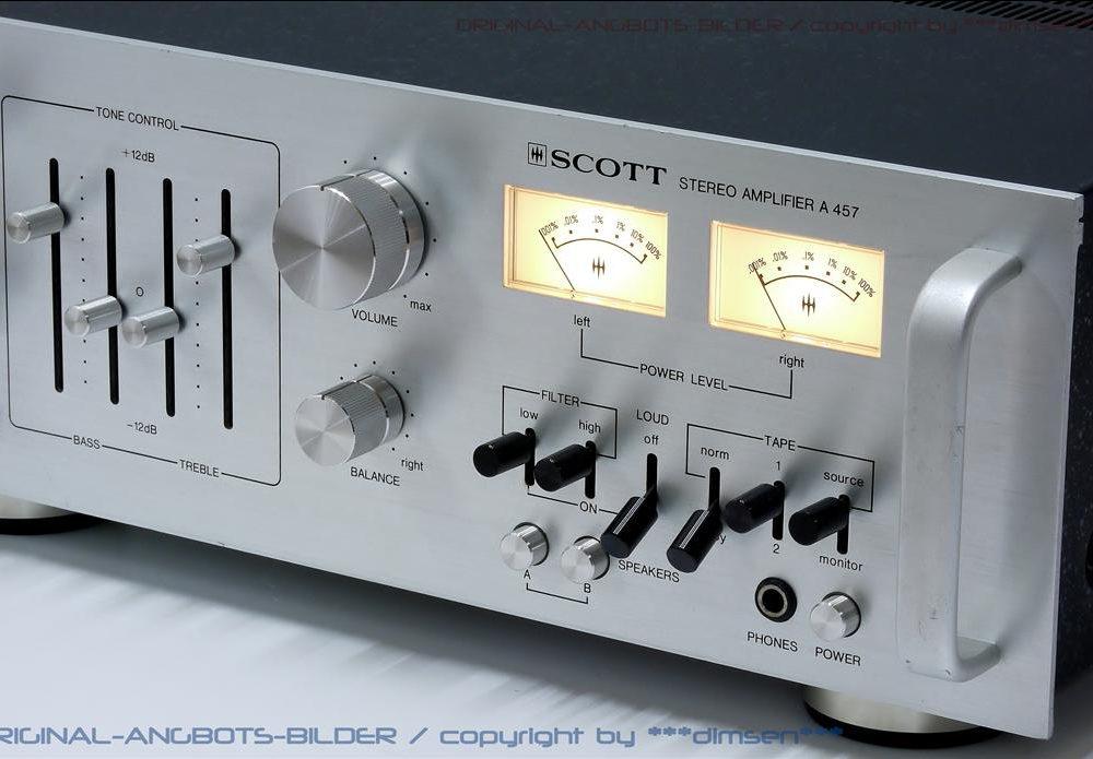 SCOTT A457 立体声双表头功率放大器