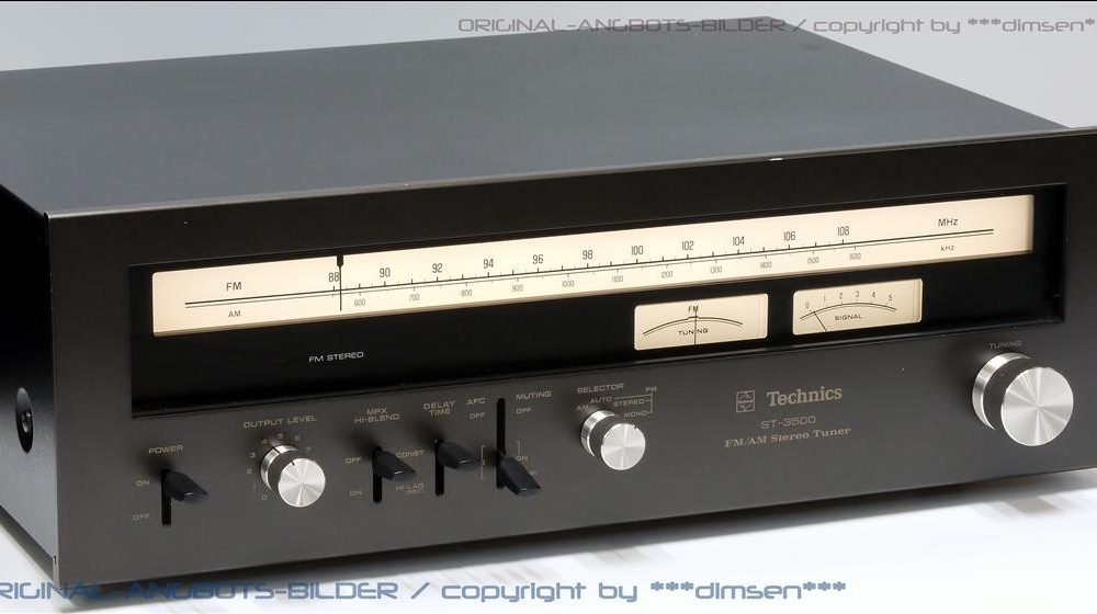 松下 Technics ST-3500 AM/FM 立体声收音头