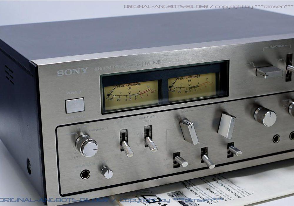 索尼 SONY TA-E7B 双表头前级放大器