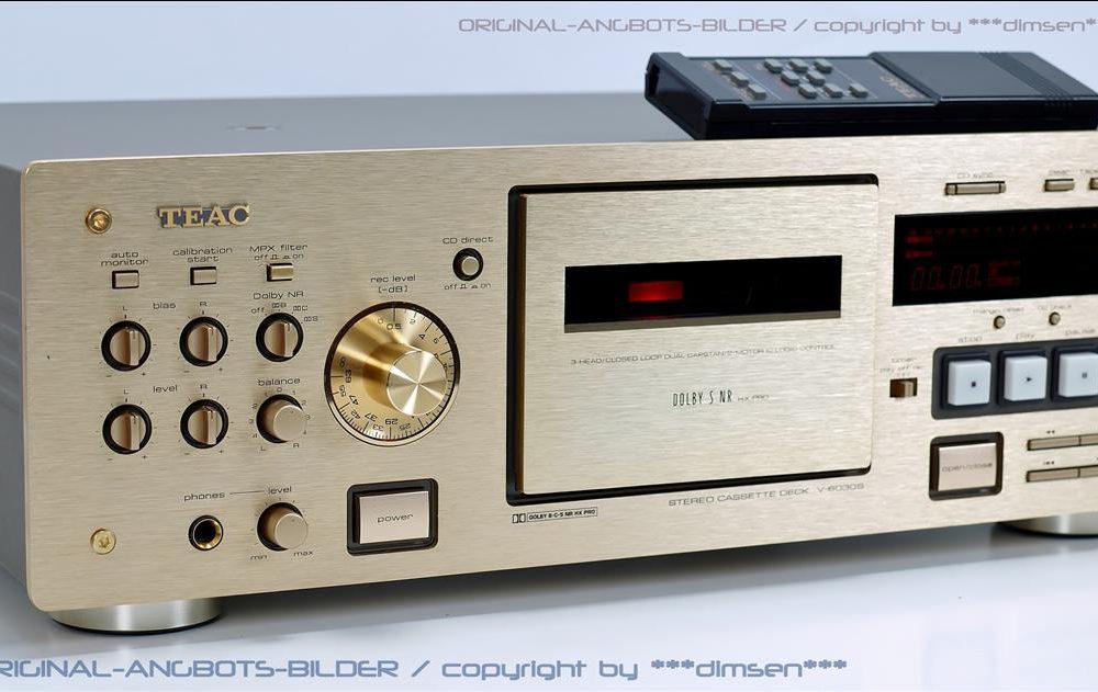 金色 TEAC V-6030S 三磁头卡座