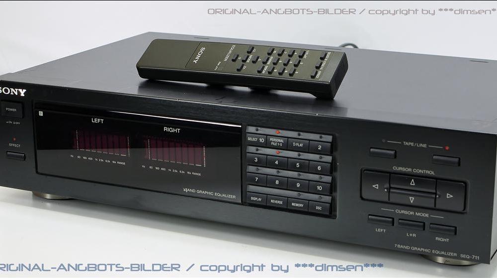 索尼 SONY SEQ-711 图形均衡器