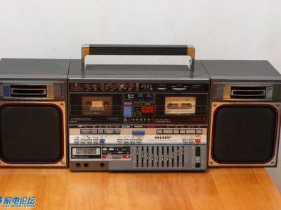 夏普 SHARP GF-800 四波段双卡收录机