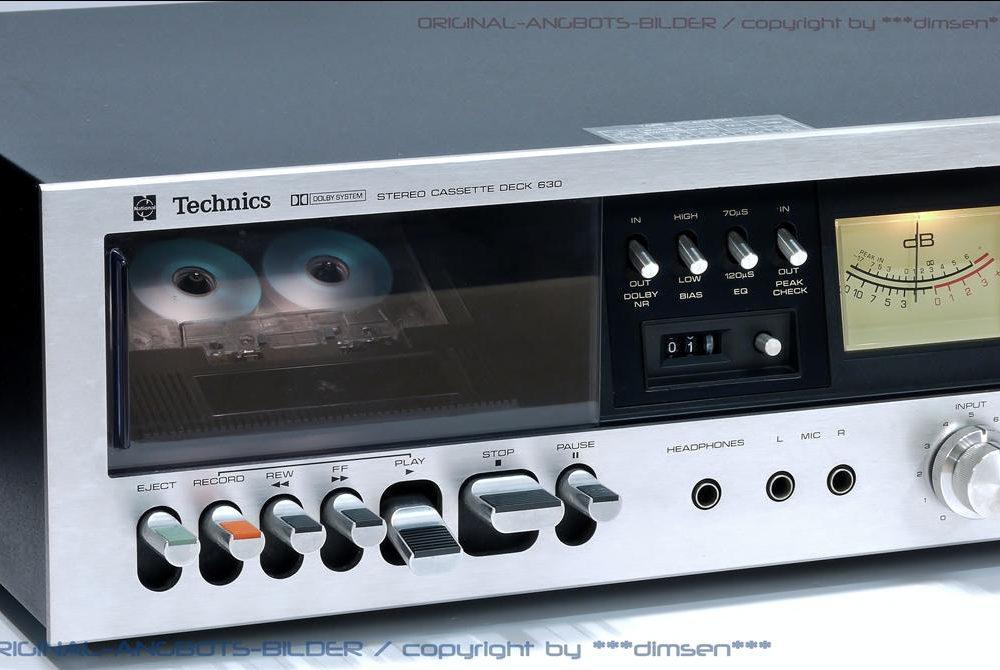 松下 Technics 630 双表头古典卡座