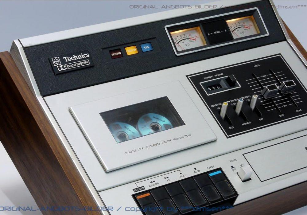 松下 Technics RS-262US 古董双表头卡座