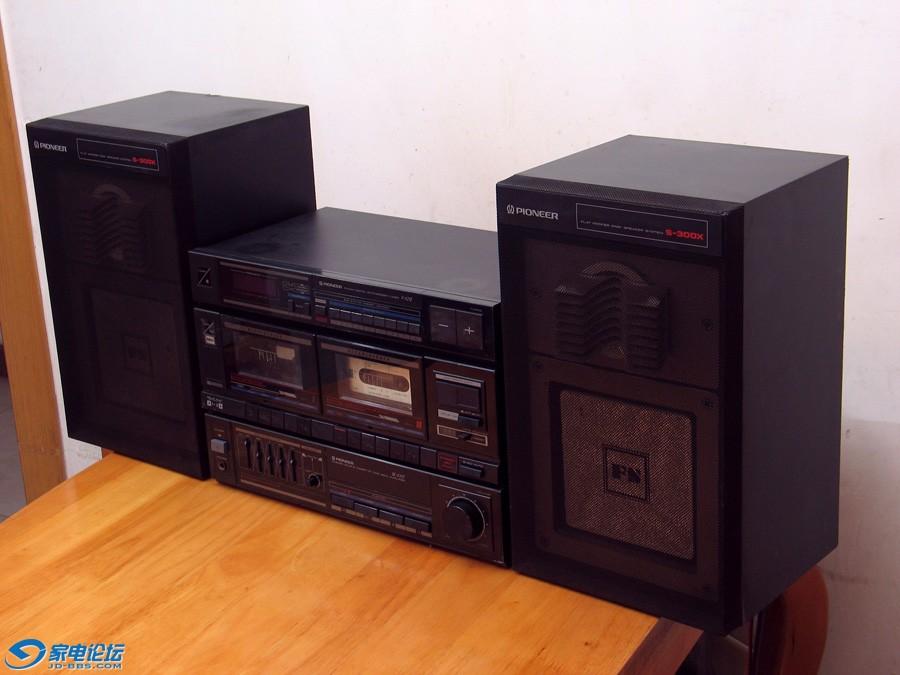 先锋 PIONEER DC-X21Z 双卡收录机 / S-300X 平板音箱