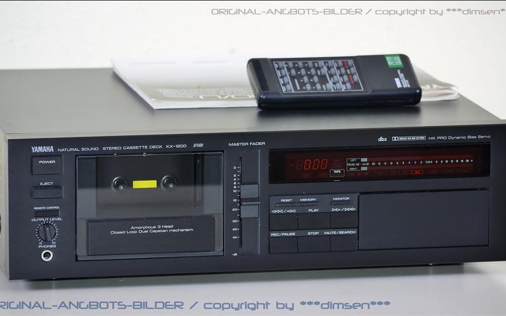 黑色雅马哈 YAMAHA KX-1200 三磁头卡座