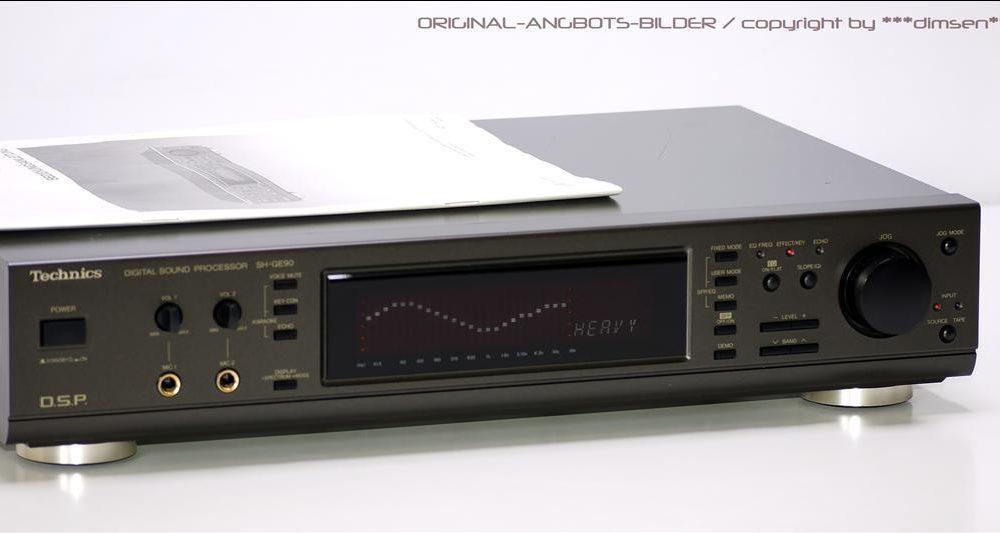 松下 Technics SH-GE90 数字频谱图示均衡器