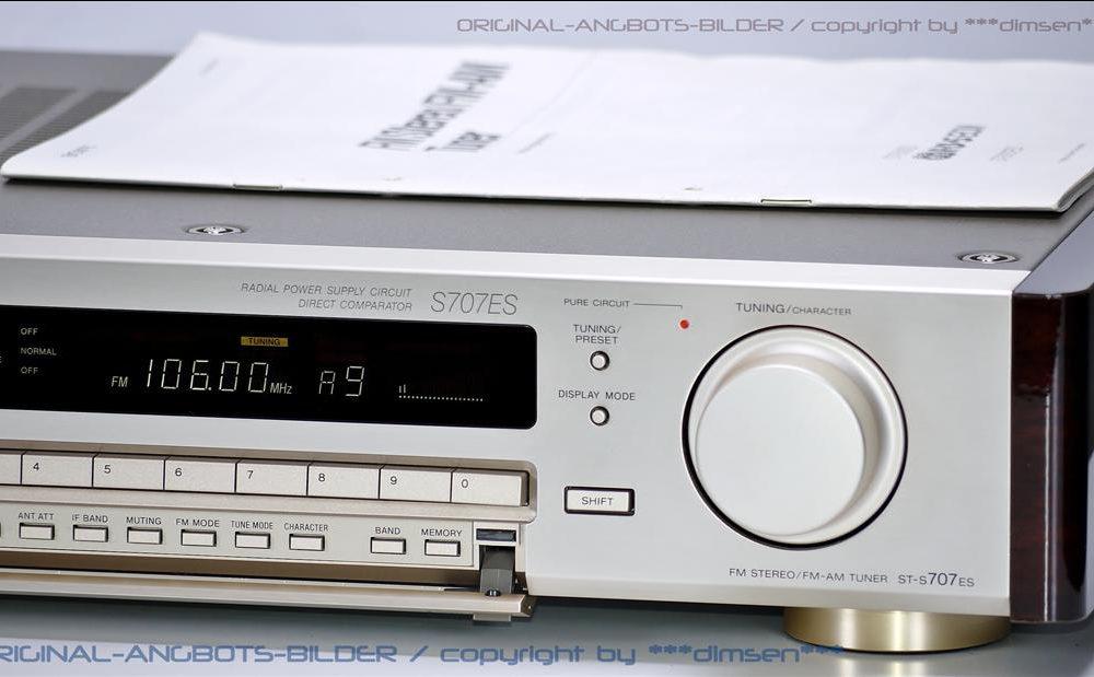 金色索尼 SONY ST-S707ES FM/AM 立体声收音头