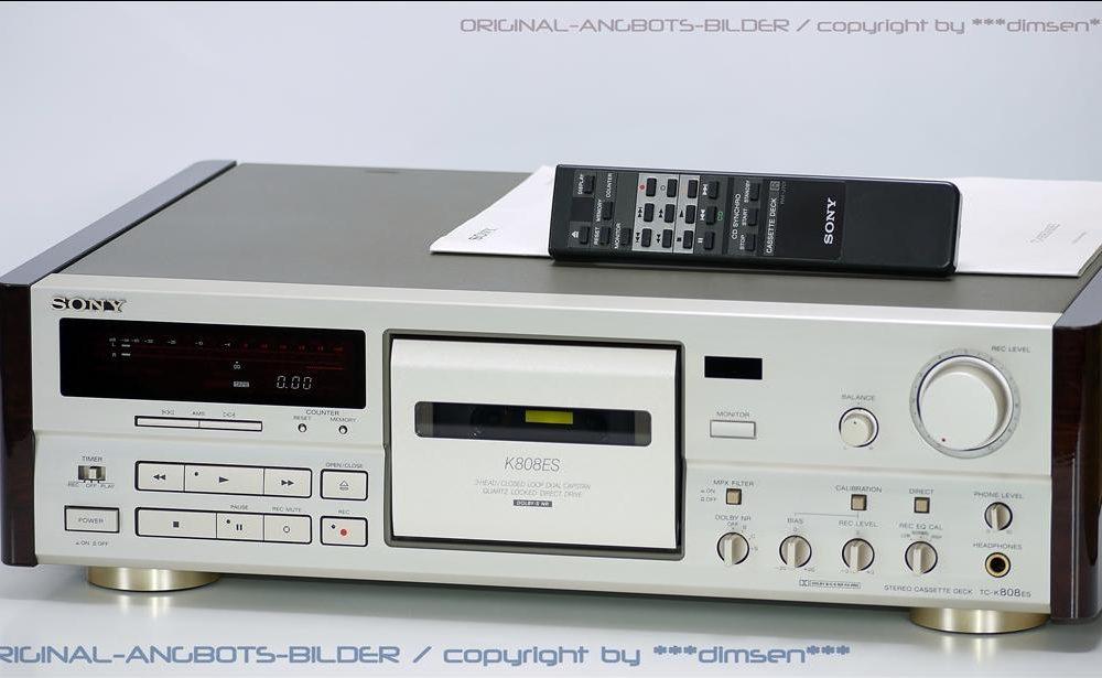 香槟色 索尼 SONY TC-K808ES 三磁头卡座