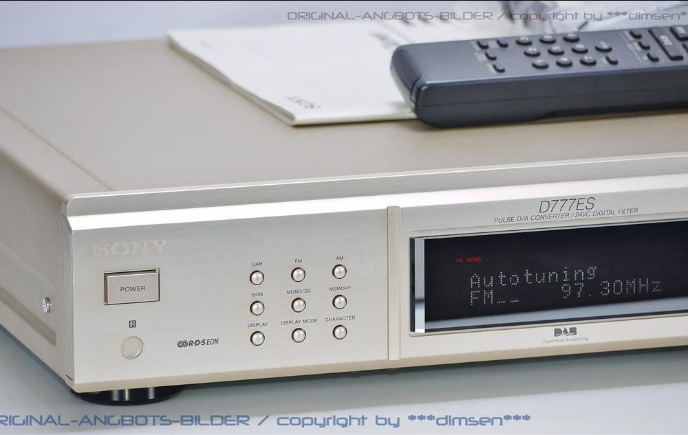 索尼 SONY ST-D777ES DAB/FM/AM 高级收音头