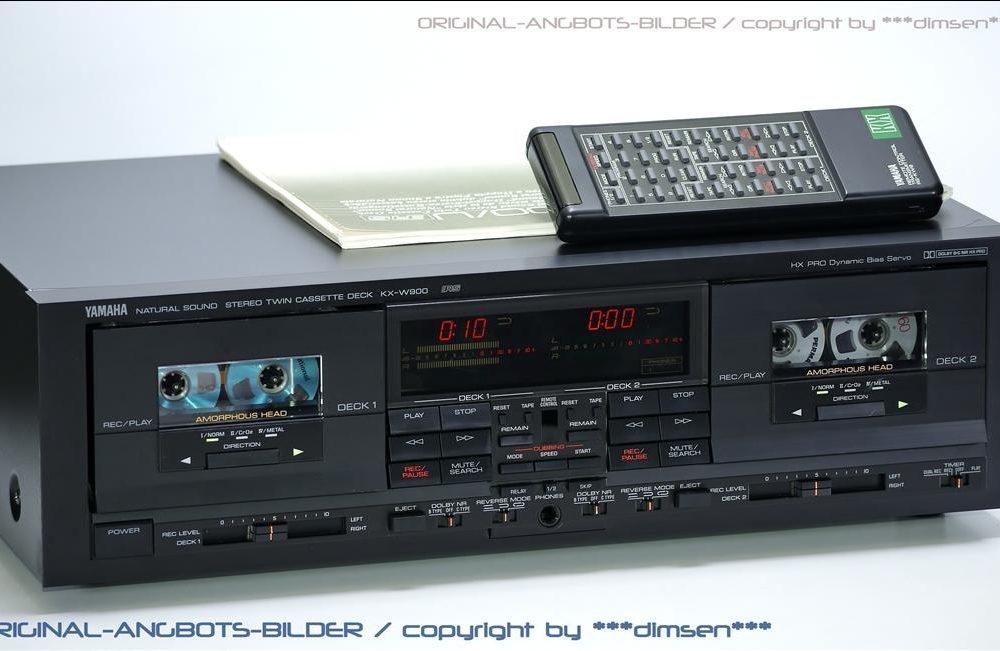 雅马哈 YAMAHA KX-W900 高级双卡座