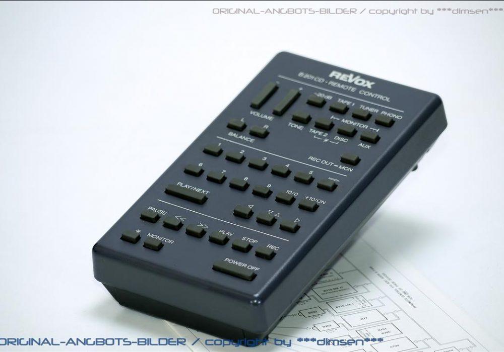 REVOX B201CD 遥控器