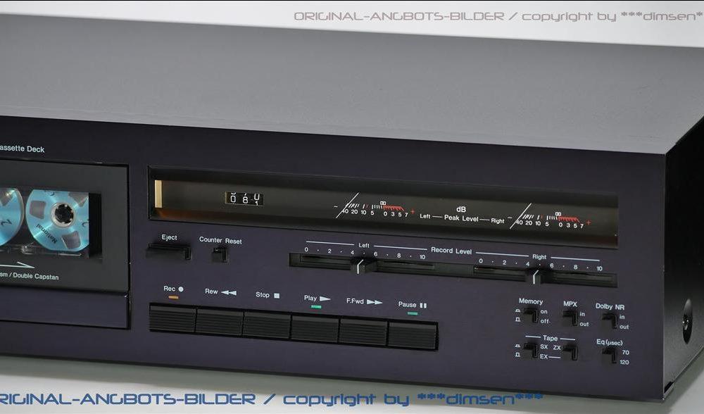 中道 NAKAMICHI 480 经典二磁头卡座