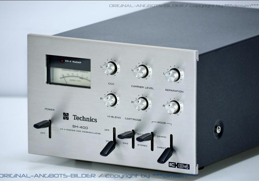 松下 Technics SH-400 CD-4 System Disc Demodulator
