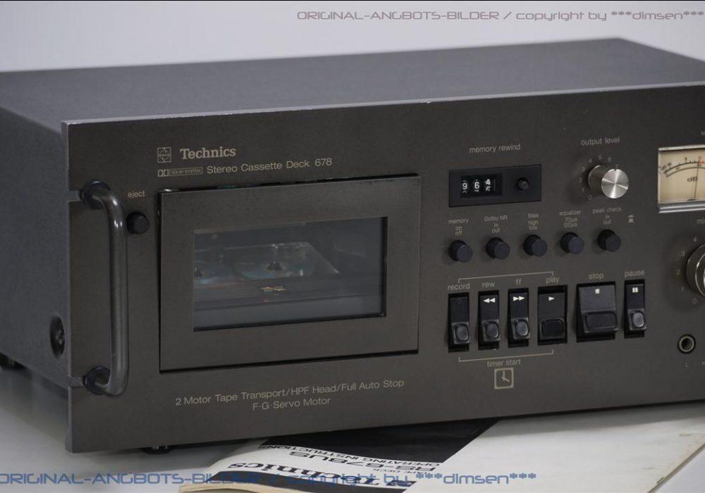 松下 Technics RS-678US 卡座