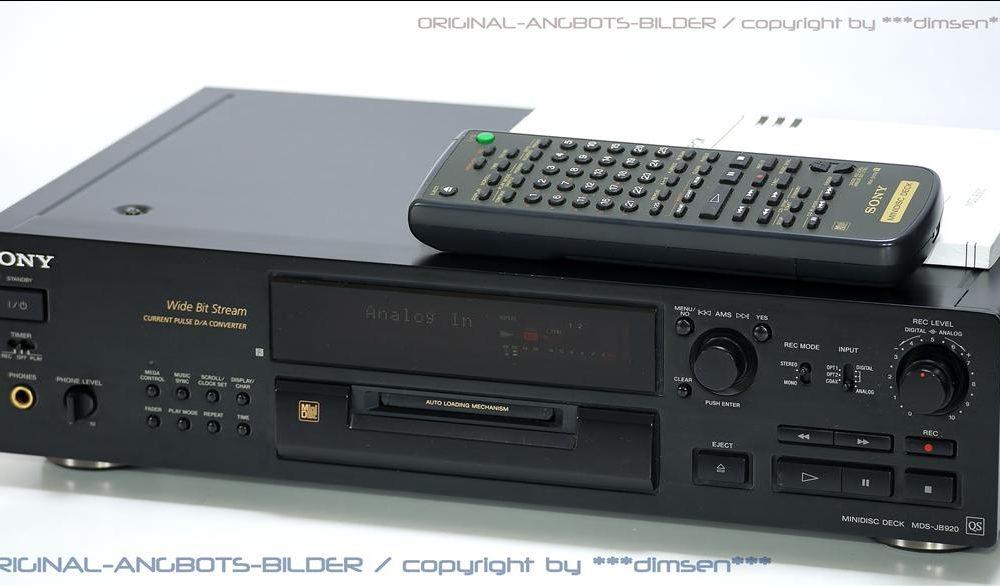 黑色索尼 SONY MDS-JB920 MD 播放机