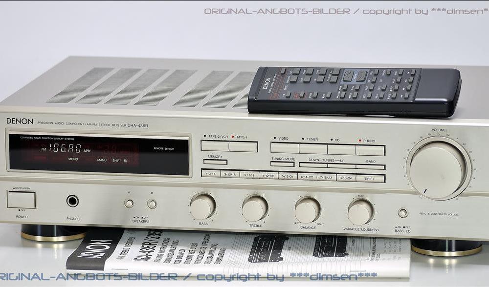 天龙 DENON DRA-435 FM收音 功率放大器