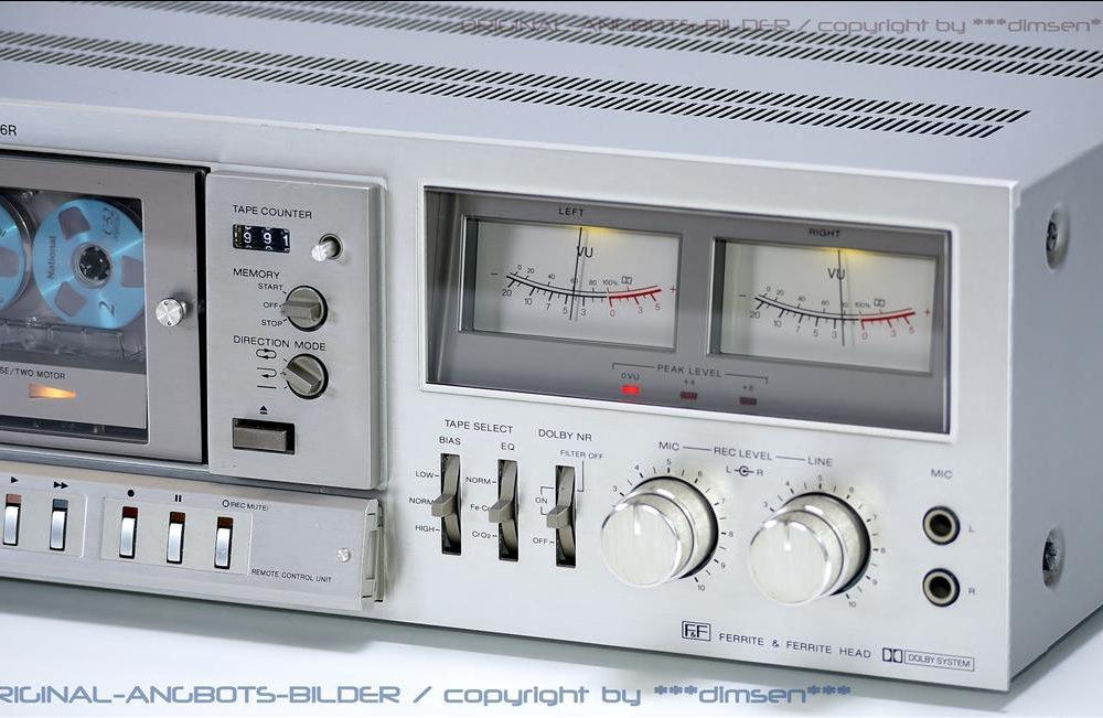 银色经典 索尼 SONY TC-K96R 双表头古典卡座