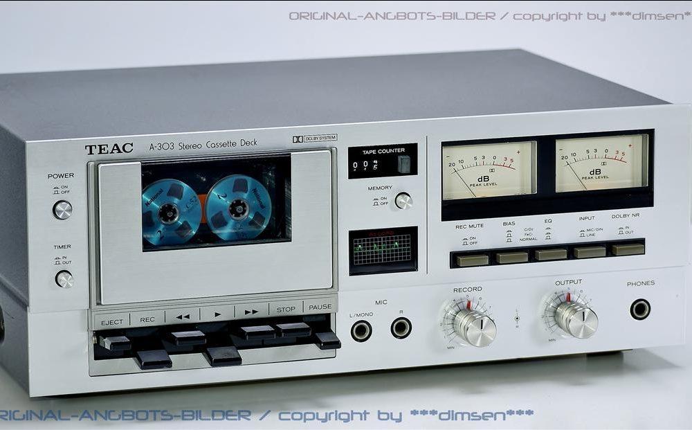 TEAC A-303 双表头立体声古典卡座
